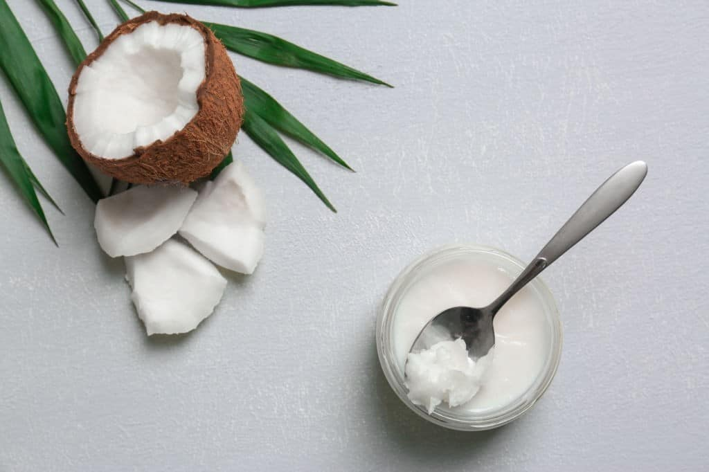 jar with coconut oil