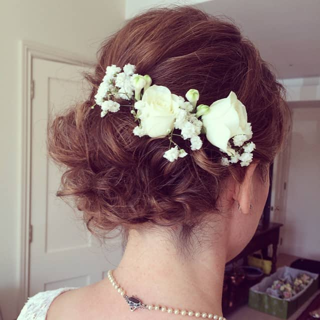 Low Messy Chignon for Short Hair
